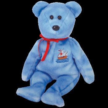 juguete 1 x ty beanie bebé - nina el oso (internet exclusiv