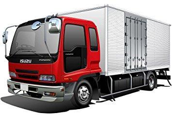 juguete 1/32 isuzu camión frigorífico w / side puerta de ca