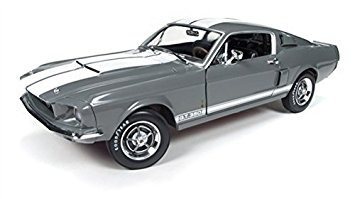 juguete 1967 ford mustang shelby gt-350 medium gray metalli