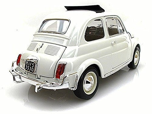 juguete 1968 fiat 500 l, blanco - bburago  /18 escala dieca