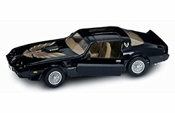 juguete 1979 pontiac firebird trans am, negro - firma carre