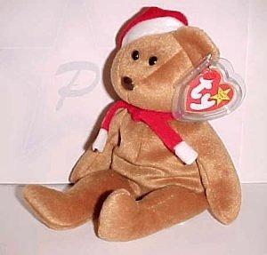 juguete 1997 ty beanie de navidad del oso de peluche del be