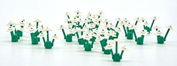 juguete 25 blanco lego flores