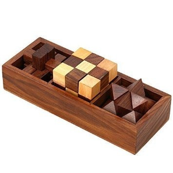 juguete 3-en-uno de madera rompecabezas set - rompecabezas