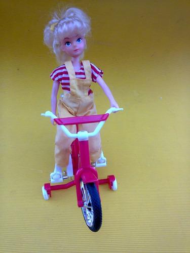 juguete a pilas bicicleta ,nena pedalea, funciona .toys -bmx
