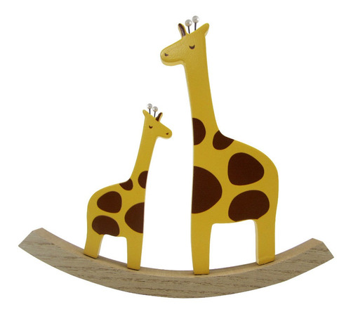 juguete adorno infantil madera animales jirafa 22cmx2cmx20cm