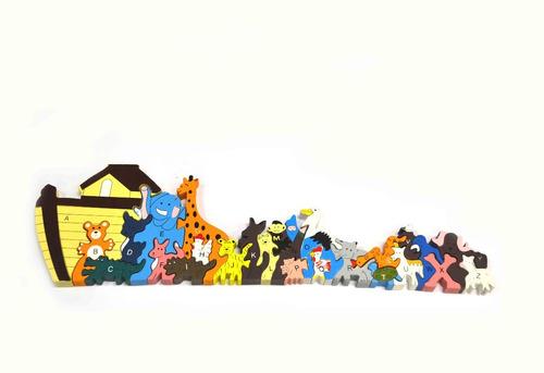 juguete alfabeto rompecabezas de madera niños didactico