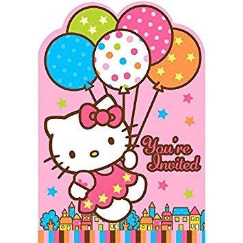 juguete amscan hello kitty globo sueños troqueladas invitac