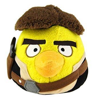 juguete angry birds star wars felpa bird han solo, de 8 pul