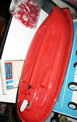 juguete antiguo barco remolcador tronador ii - marca delta