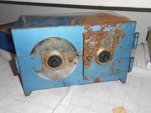 juguete antiguo caja fuerte de lamina