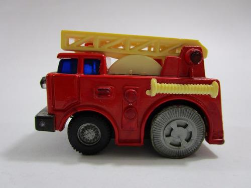 juguete antiguo camion bomberos 6 cm largo metalico usado