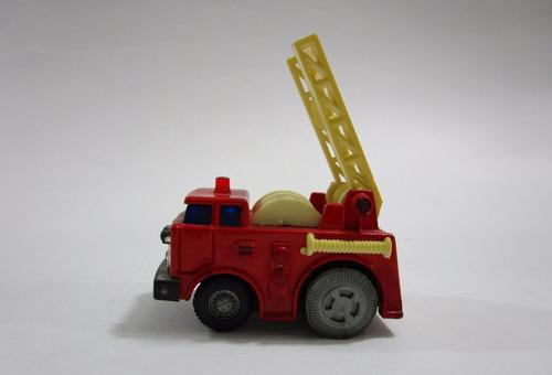 juguete antiguo camion bomberos 6 cm metalico