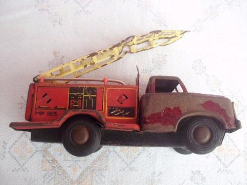 juguete antiguo camion bomberos chapa