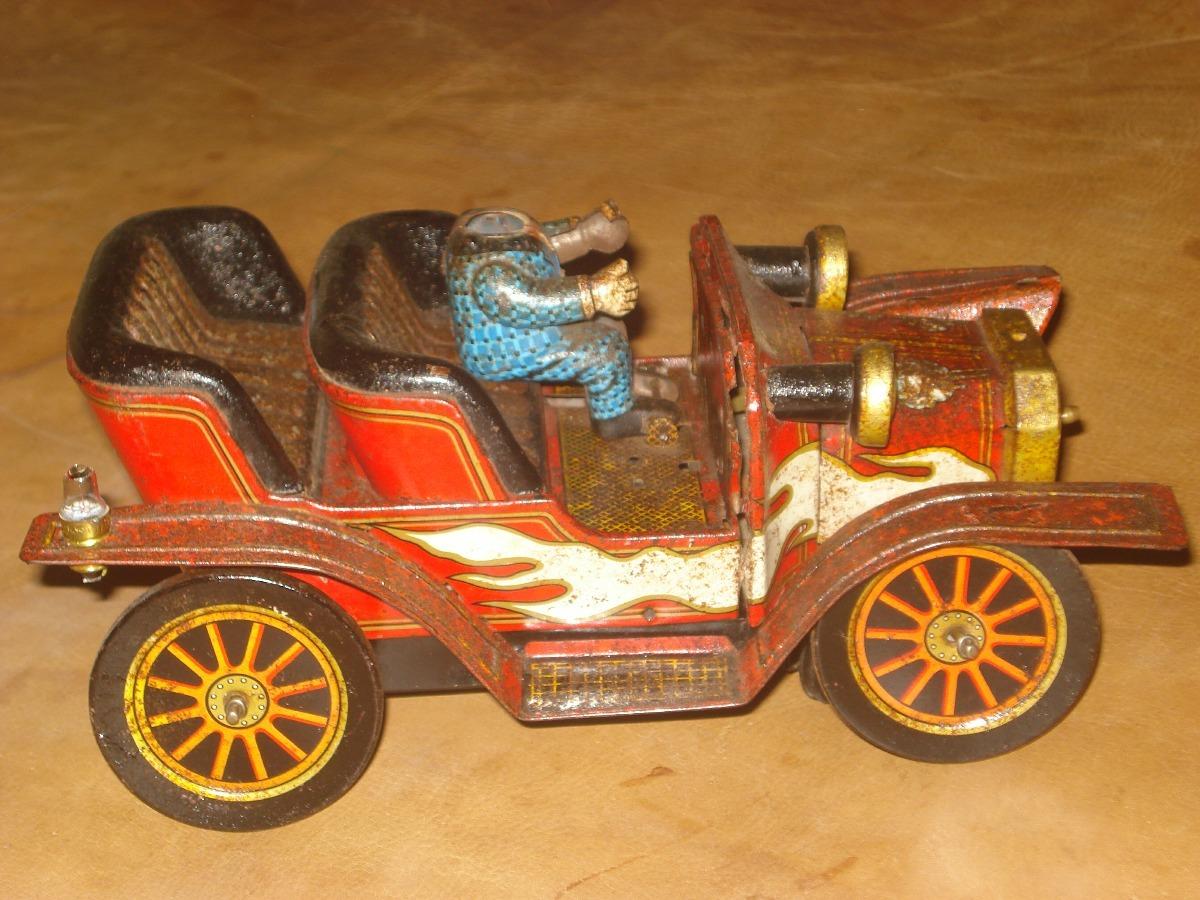 Juguete Antiguo Carro Antiques De Lata Ano 1950 Video S 80 00
