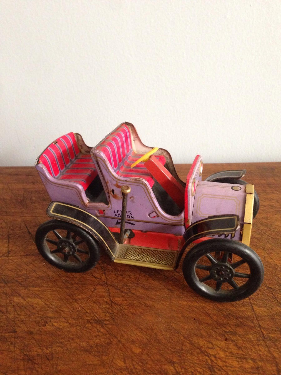 Juguete Antiguo Carro De Lamina Japones 1 000 00 En Mercado Libre