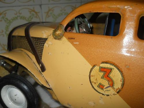 juguete antiguo coupe eico ruterita aurora tc,luz bocina