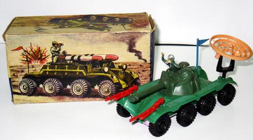 juguete antiguo de plastico camion militar - alni (ind arg)