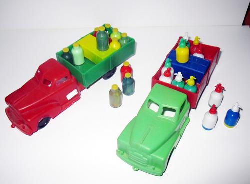 juguete antiguo de plastico  - lote de camiones baltasar