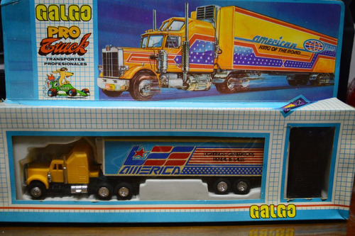 juguete antiguo galgo camion control remoto a pilas funciona