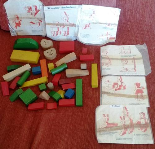 juguete antiguo - maderas para armar