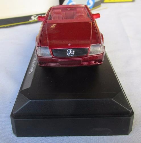 juguete antiguo mercedes benz sl cabrio 1/43, solido, gotech