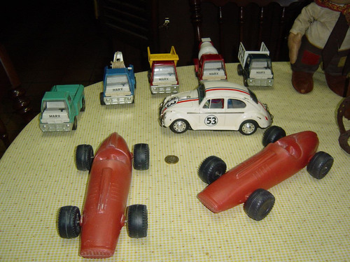 juguete antiguo plastico inflado indy car
