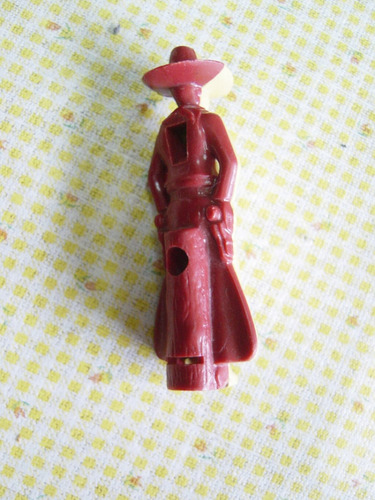 juguete antiguo silbato en forma de vaquero