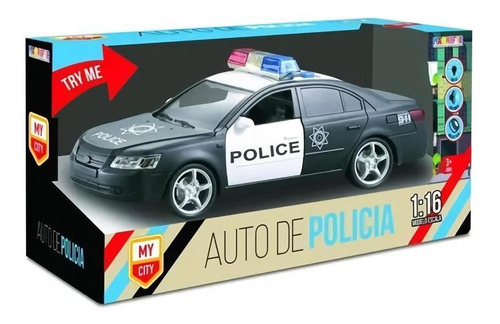 juguete auto de policia con luz y sonidos magnific cuotas