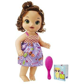 juguete baby alive listo para el bebé school (morena)