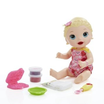 juguete baby alive super snacks snackin 'lily (rubia)