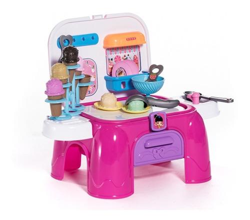 juguete banquito set heladeria mesa valijita dreams