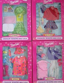 juguete barbie changin 'modas estaciones vestido' n play se