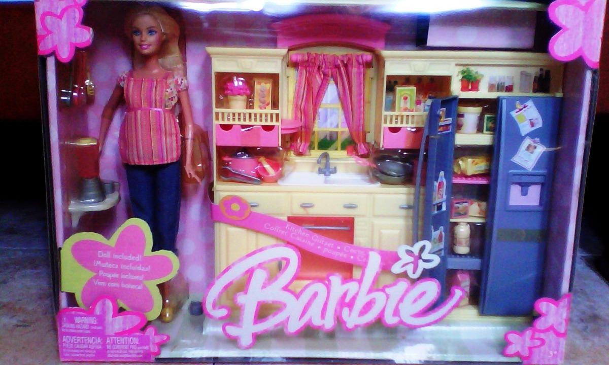 Juguete Barbie Con Cocina Y Acce 100 Juego Original Mattel