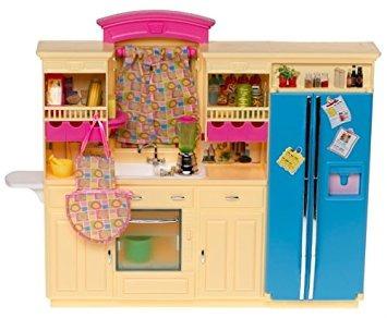juguete barbie decoración colección de la cocina playset