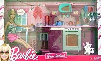 Juguete Barbie Glam Cocina Set De Juegos Grande De La Caja