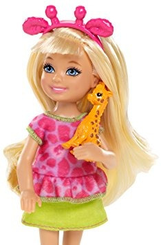 juguete barbie hermanas safari chelsea doll, de la jirafa
