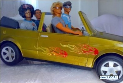 juguete barbie jazzie volkswagen cabriolet hot teen car '88