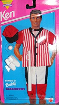 juguete barbie ken-fácil del vestido de béisbol 1995