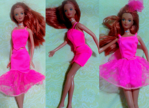 juguete barbie  match & play