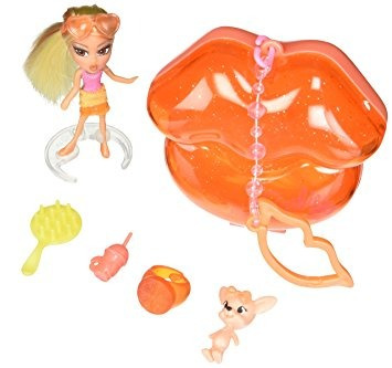 juguete barbie mini b. #37 doll with orange lips case &