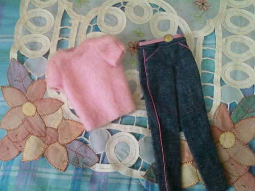 juguete barbie vestimenta jeans