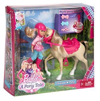 juguete barbie y sus hermanas en un potro cuento chelsea y