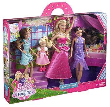 juguete barbie y sus hermanas en un potro cuento gala vesti