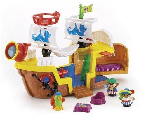 juguete barco fisher-price marron