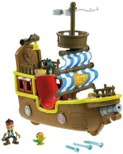 juguete barco pirata de-mattel. marrón