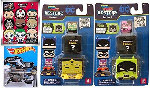 juguete batman hot wheels the bat dc comics + kawaii cubes s