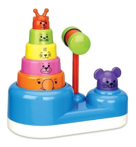 juguete bebe 6 meses animales apilables ok baby babymovil
