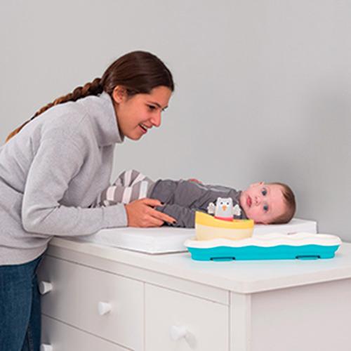 juguete bebe buho barco musical 0m+ taf toys 11805 babymovil