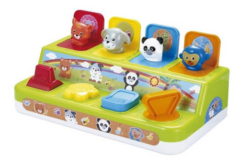 juguete bebe didactico animales pop up  ok baby babymovil